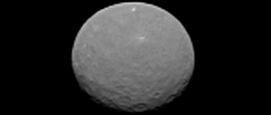 This image is one of several NASA's Dawn spacecraft took on approach to Ceres on 4th February 2015 at a distance of about 90,000miles (145,000kilometres) from the dwarf planet. Image credit: NASA/JPL-Caltech/UCLA/MPS/DLR/IDA