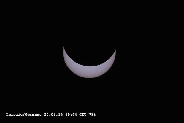 Manuela (@Abana09) from Leipzig in Germany saw a fantastic partial eclipse.