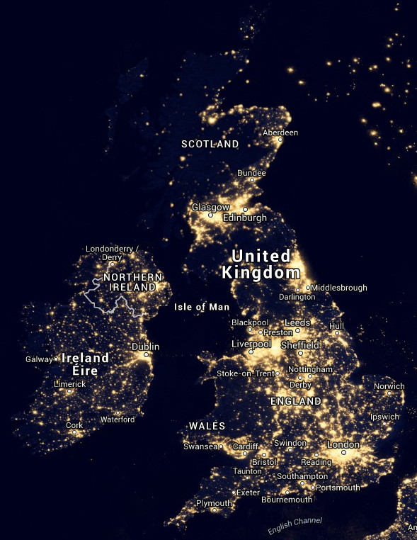 New World Atlas Of Light Pollution Reveals Extent Of Artificial - Us light pollution map