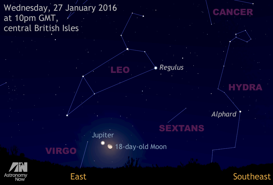 See the Moon's close brush with Jupiter on the night of 27 ...
