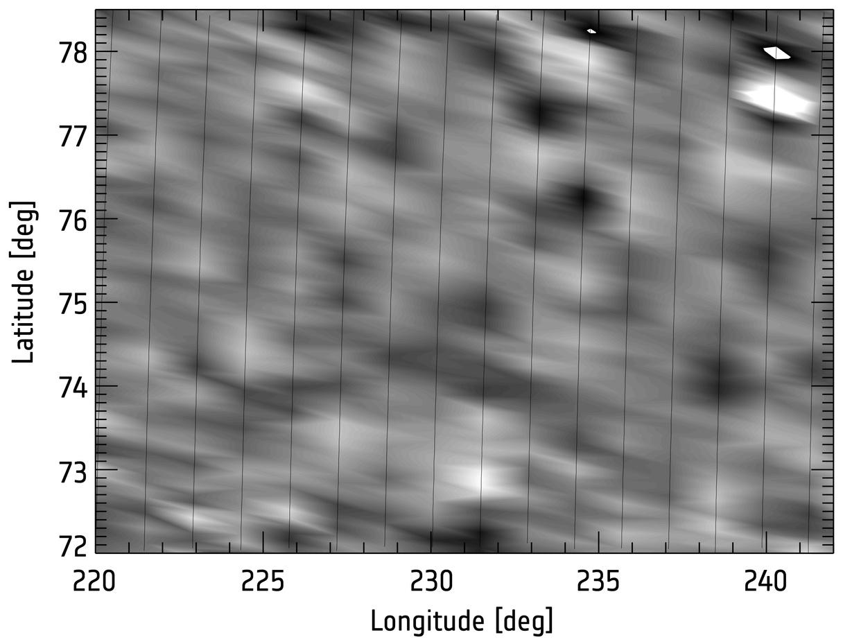 Mapping the density waves in Venus' lower thermosphere. Figure credit: ESA/Venus Express/VExADE/Müller-Wodarg et al., 2016.