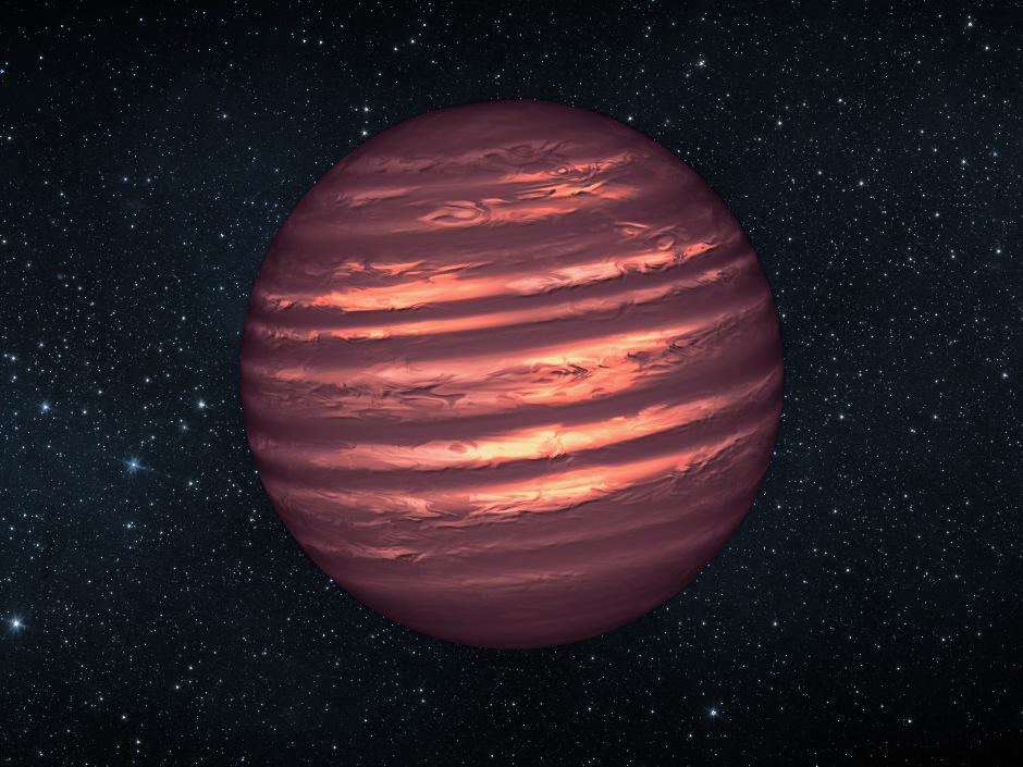 An artist's conception of a brown dwarf known as 2MASSJ22282889-431026. Image credit: NASA/JPL-Caltech.