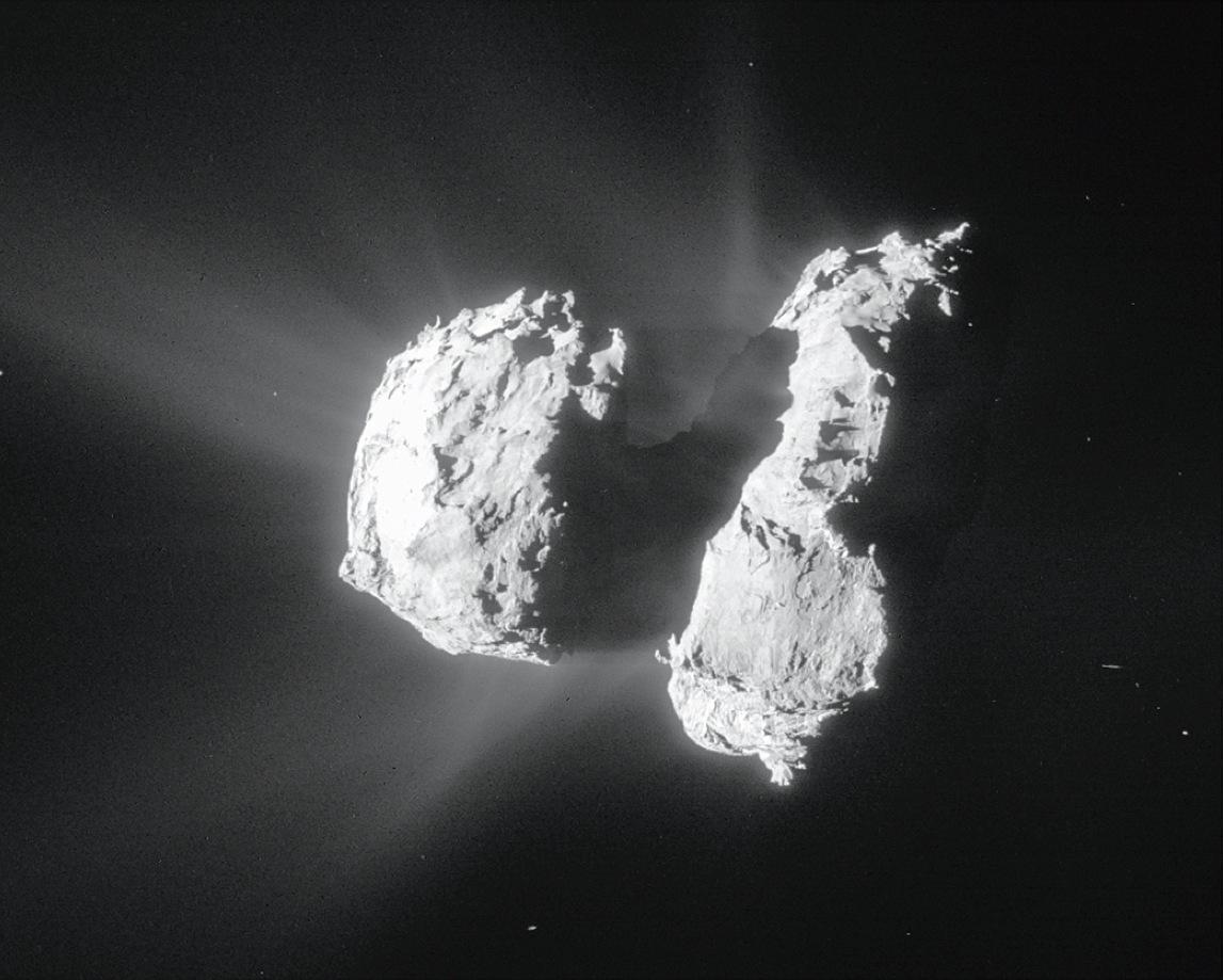 The measurements were made when ESA's Rosetta spacecraft was between 10 and 200kilometres of Comet 67P/Churyumov-Gerasimenko. Image credit: ESA/Rosetta/NavCam.