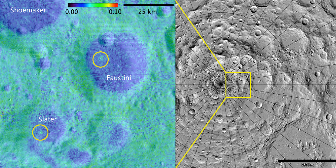 Scientists find fresh impact craters near the Moons south pole