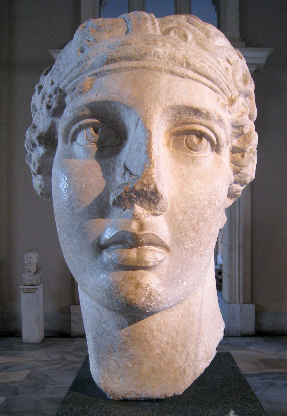Marble bust of the ancient Greek poet Sappho. Roman copy of a Hellenistic original from Smyrna (Izmir), Turkey. Image credit: Wikimedia Commons.