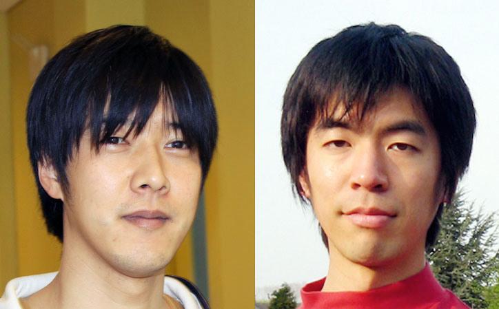 Teppei Okumura (left) and Chiaki Hikage. Image credit: Kavli IPMU.