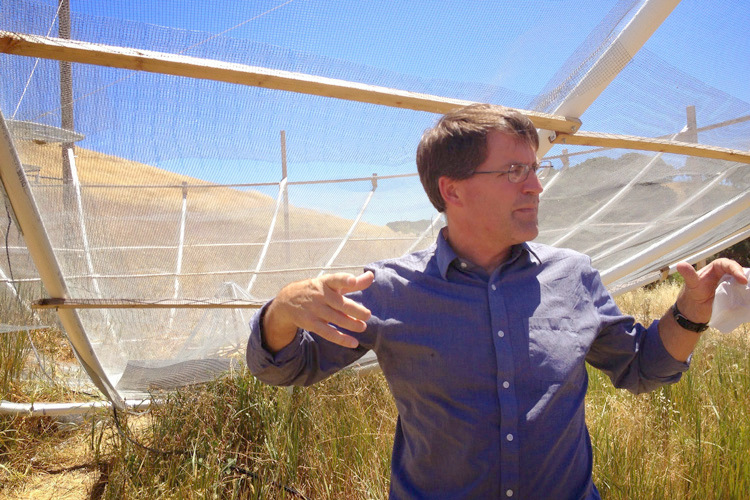 Astronomer David DeBoer at the site of the HERA array in South Africa. Image credit: the HERA team.