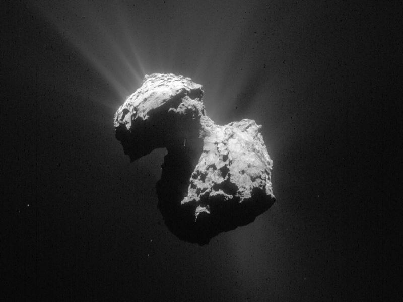Comet 67P/C-G on 7July 2015. Image credits: ESA/Rosetta/NAVCAM.